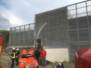 Nassübung am Neubau der JVA Bochum 13.07.16