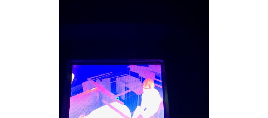 Auf einer Wärmebilkamera konnten die Jugendlichen durch die Betreuer beobachtet werden